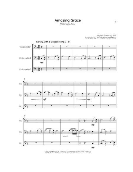 AMAZING GRACE cello trio