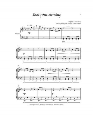 EARLY ONE MORNING – easy piano