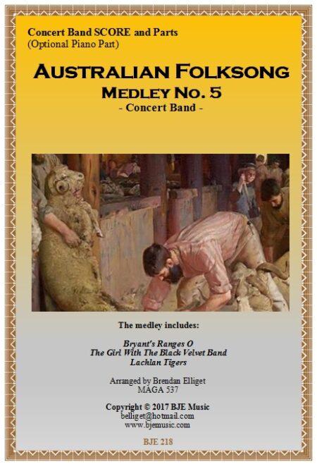 218 FC Australian Folksong Medley No 5 Concert Band