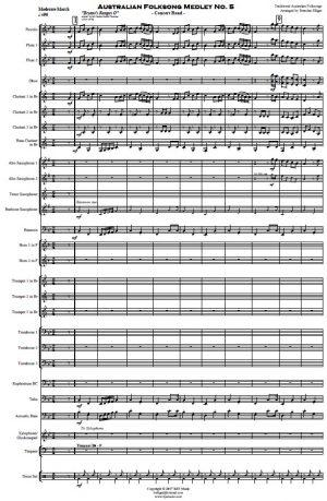 Australian Folksong Medley No. 5 – Concert Band