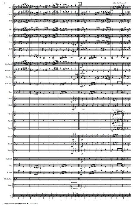 218 Australian Folksong No 5 Concert Band SAMPLE page 002