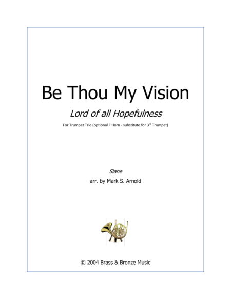 Be Thou TPT Trio Cover 1
