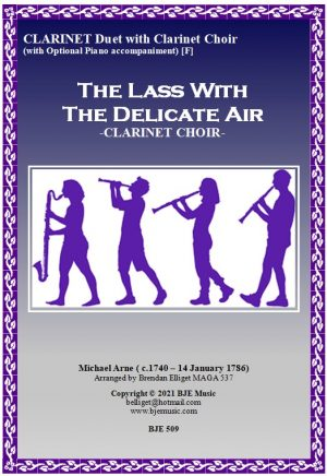 The Lass With The Delicate Air – Clarinet Duet with Clarinet Choir