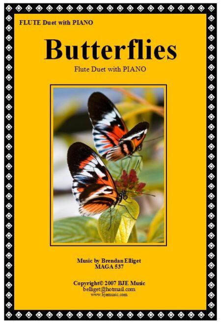 168 FC Butterflies FLUTE Duet with Piano 1