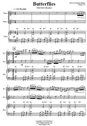 Butterflies – Flute Duet and Piano