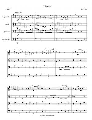 Pierrot for Saxophone Quartet