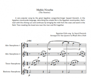 MAHlA NOURHA – Sax Quartet