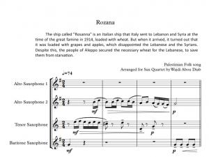 AL ROZANA – saxophone quartet