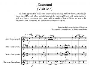 ZOUROUNI – SAX Quartet