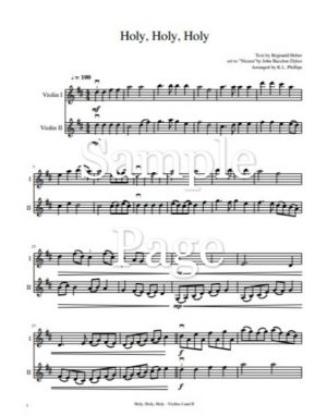 Holy, Holy, Holy – Unaccompanied Violin Duet