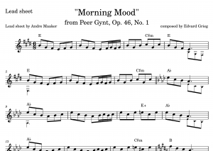 Morning Mood from Peer Gynt. Suite No. 1, Op. 46 – Lead sheet