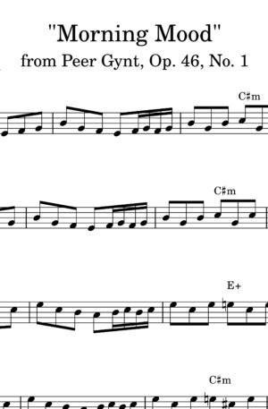 Morning Mood from Peer Gynt. Suite No. 1, Op. 46 – Lead sheet