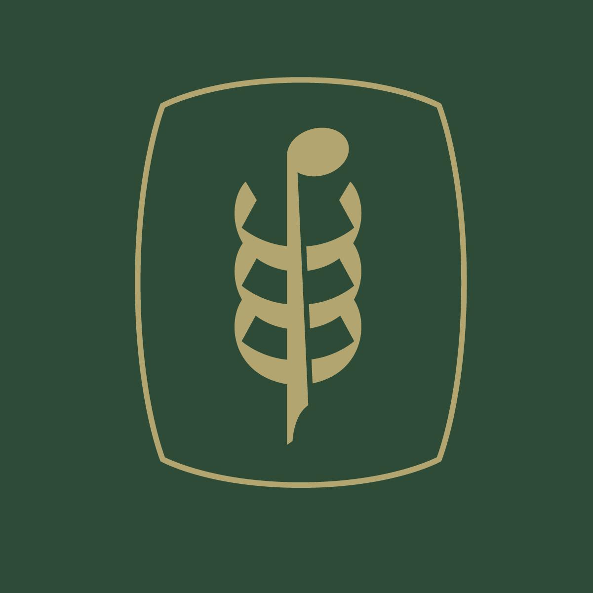 Logo Gold on Green