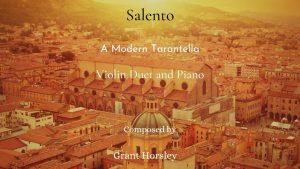 """Salento"" A Modern Tarantella for Violin Duet and Piano"