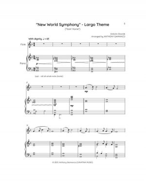NEW WORLD SYMPHONY (Largo Theme) – Flute and Piano