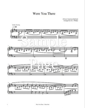 Were You There (When They Crucified My Lord) – Intermediate Piano Solo