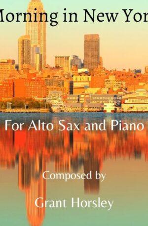 """Morning in New York"" Alto Sax and Piano- Early Intermediate"