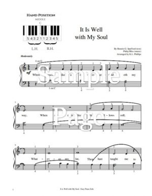 It Is Well with My Soul – Easy Piano Solo