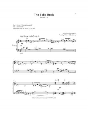 THE SOLID ROCK – organ solo