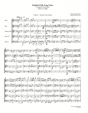 English Folk Song Suite (arr. for wind quintet) [score with parts]