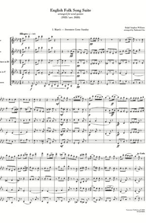 English Folk Song Suite (arr. for wind quintet)
