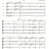 First page of the sheet music for Holst Second Suite arranged for wind quintet