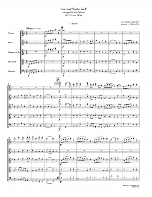 Second Suite in F (arr. for wind quintet) [score with parts]