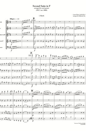 Second Suite in F (arr. for wind quintet)