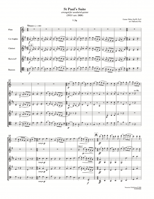 St Paul's Suite (arr. for wind quintet) [score with parts]