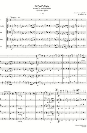 St Paul's Suite (arr. for wind quintet) [score with parts]