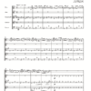 First page of the sheet music for Molly Molly On The Shore arranged for wind quintet