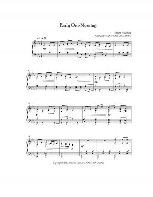 EARLY ONE MORNING – intermediate piano