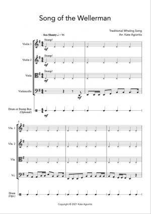 Song of the Wellerman – for String Quartet