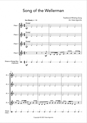 Song of the Wellerman – for Flute Quartet