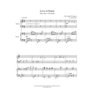 Love at Home – Elementary Student/Teacher Piano Duet