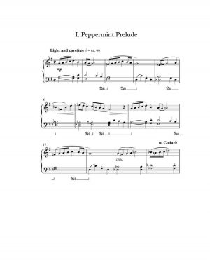A SWEET SUITE – piano solo (int.)