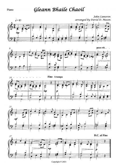 Gleann Bhaile Chaoil Piano Sample scaled