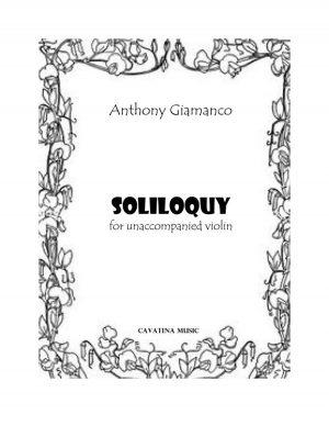 SOLILOQUY for Unaccompanied Violin