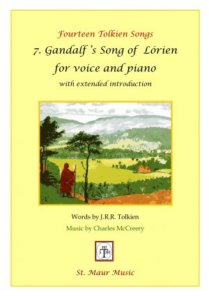 Gandalf's Song of Lórien, vocal score