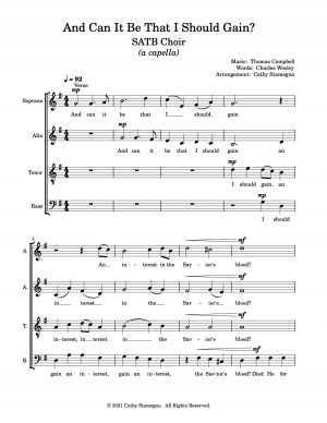 And Can It Be That I Should Gain? (SATB Choir – a cappella)