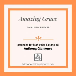 AMAZING GRACE – High voice and piano