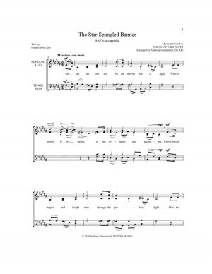 THE STAR-SPANGLED BANNER – SATB, a cappella