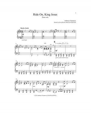 RIDE ON, KING JESUS – intermediate piano