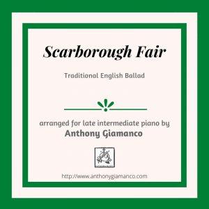 SCARBOROUGH FAIR – piano solo