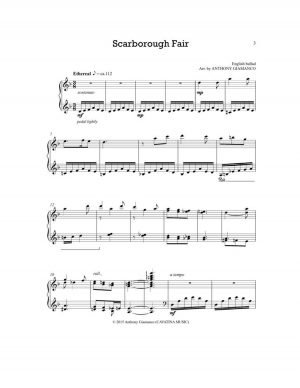 SCARBOROUGH FAIR – piano solo