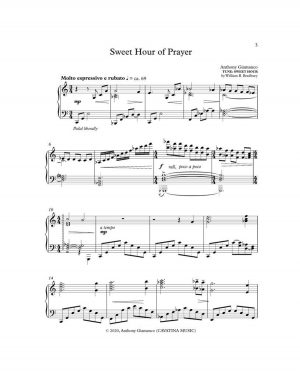 SWEET HOUR OF PRAYER – piano solo
