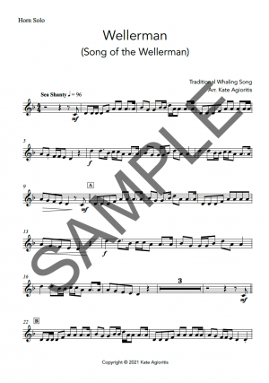 Wellerman – Instrumental Solo with Play-Along Accompaniment Track – for Trumpet, Trombone or Horn