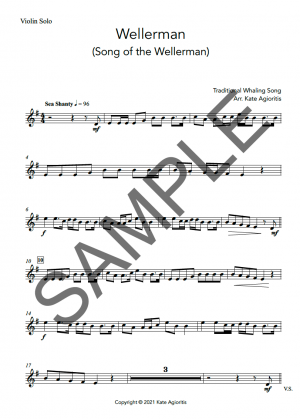 Wellerman – Instrumental Solo with Play-Along Accompaniment Track – for Violin, Viola or Cello