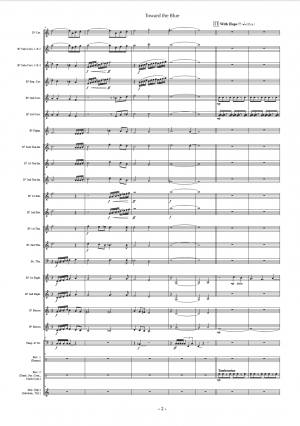 Toward the Blue, for Brass Band (Score)