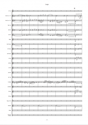 Largo, for Brass Band (Score)